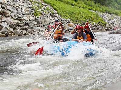 Rafting with Bennington New Experiences Camp. 072916