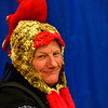 "KRISTOPHER RADDER - BRATTLEBORO REFORMER<br /> Putney Central School Principal Herve Pelletier dresses up as a rooster during an assembly for ""Ralph Flies the Coop,"" on Friday, March 17, 2017."