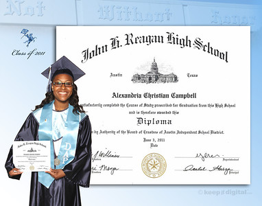 2011 Reagan Keep it Digital Diploma™ Proof Photos