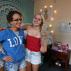 Brianna Langlois, 19, of Westford, right, with her mother Susan Langlois, is in UML and MCC's Reserve Placement Progam, spending her first semester at MCC but living at the ICC dorm before becoming a UML student second semester. (SUN/Julia Malakie)