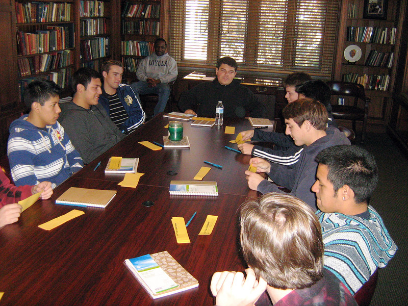 Retreatants used the library of the Jesuit residence for the Let Your Light Shine exercise