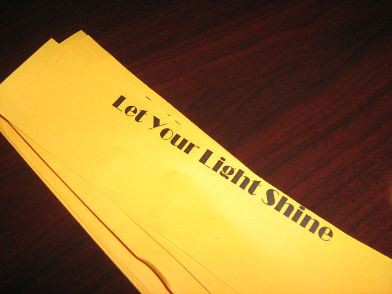 One of final activities was Letting Your Light Shine, an affirming group session