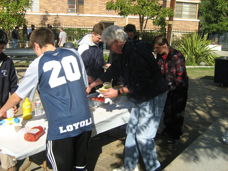BBQ at close of retreat in Malloy Commons