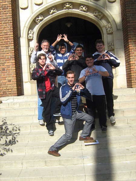 McClaveans at end of JLR December 2011  LHS of LA--Declan, Phillip, Andrew, Diego, Francisco, and Nicholas.