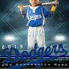 Campanella Rangers Baseball 12x18 T-Ball
