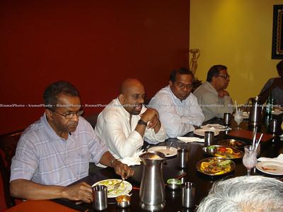 Praba's visit to Toronto, Canada - September 2011. (L-R) - Logaraja , Balakrishnana , P Srikanthan , Chelliah.