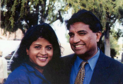 Daya & Yohini Appapillai. Los Angeles - 2004.