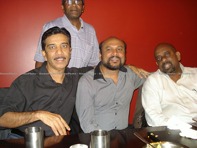 Praba's visit to Toronto, Canada - September 2011. Logarajah ( standing ). (L-R) - P Ravendran , Praba & Balakrishnan.