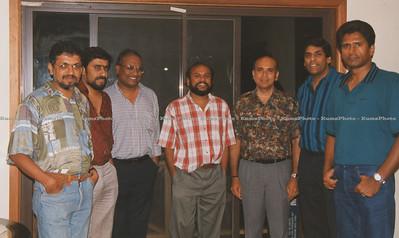 L-R: Chelliah, Shyam, Sivapalan,Praba, Rasa,Pathmanatah & Myself. Sydney, Australia - Dec. 1994.