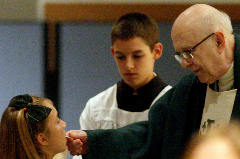 E.L. Hubbard Photography<br /> Archbishop Daniel Pilarczyk during the Mass of Thanksgiving at Royalmont Academy in Mason Friday, September 25, 2009.