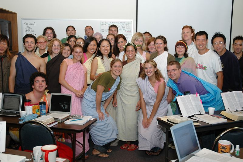 Toga Day for the Students