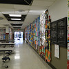 SDES cafeteria walls lined with a year's worth of student art at the Fine Arts Spring Fling.