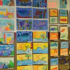 Art displayed at the school-wide SDES Fine Arts Spring Fling art show.