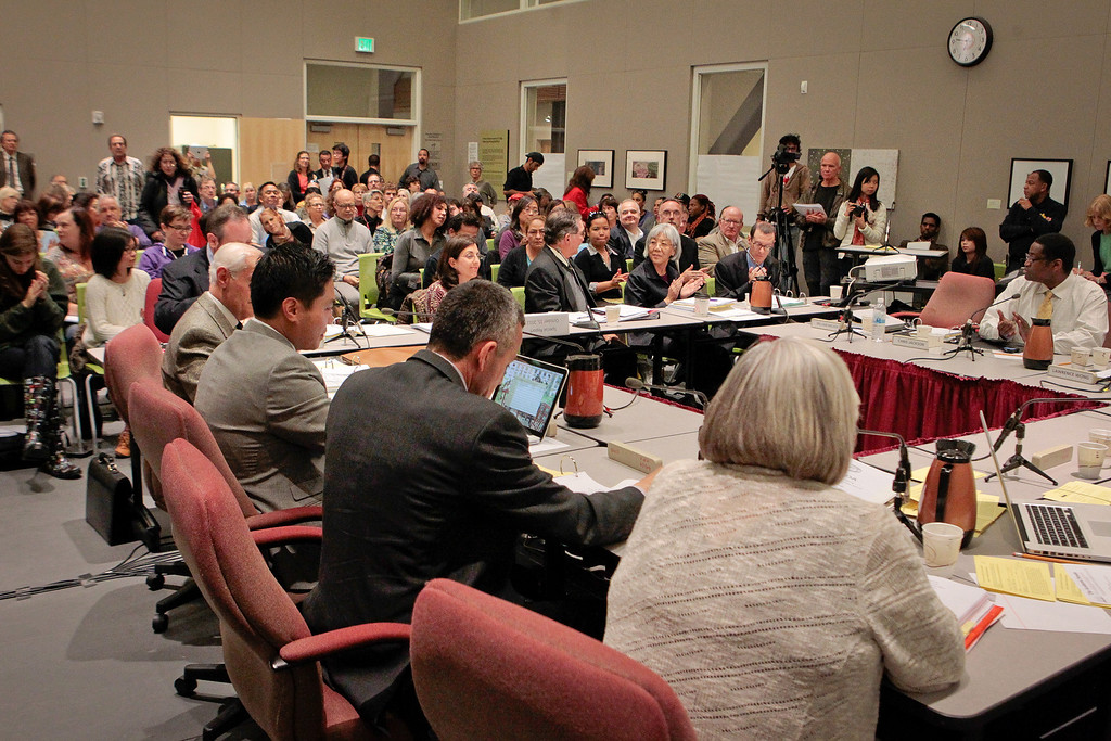 The City College of San Francisco Board of Trustees meeting at City College in San Francisco, Calif.,  is seen on Thursday, Oct.25th, 2012