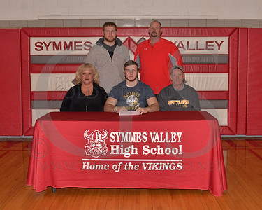 SYmmes Valley Football College Signing 3-28-2014