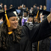 Daniel Noyes finds family during the processional at The Sage Colleges in Troy and Albany commencement at the Houston Field House in Troy, Saturday  May 17,  2014 (Mike McMahon - The Record)