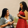 "Nataly Martinez, right,  appears happy after receiving a ring as a present from her mother, Brenda Ruiz, for graduating the fifth-grade.<br /> The last day of school at Sanchez Elementary in Lafayette was highlighted with a ""Continuation Ceremony"" for the  5th-graders.<br /> For more photos and a video of the ceremony, go to  <a href=""http://www.dailycamera.com"">http://www.dailycamera.com</a><br /> Cliff Grassmick/ May 26, 2011"