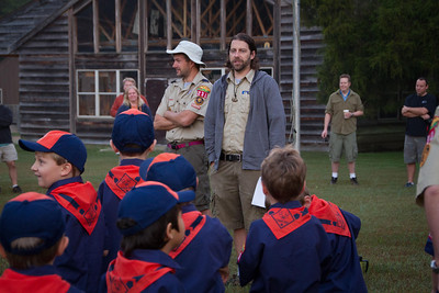 Scout Master Adam Peterson and Assistant Scout Master Jamie White