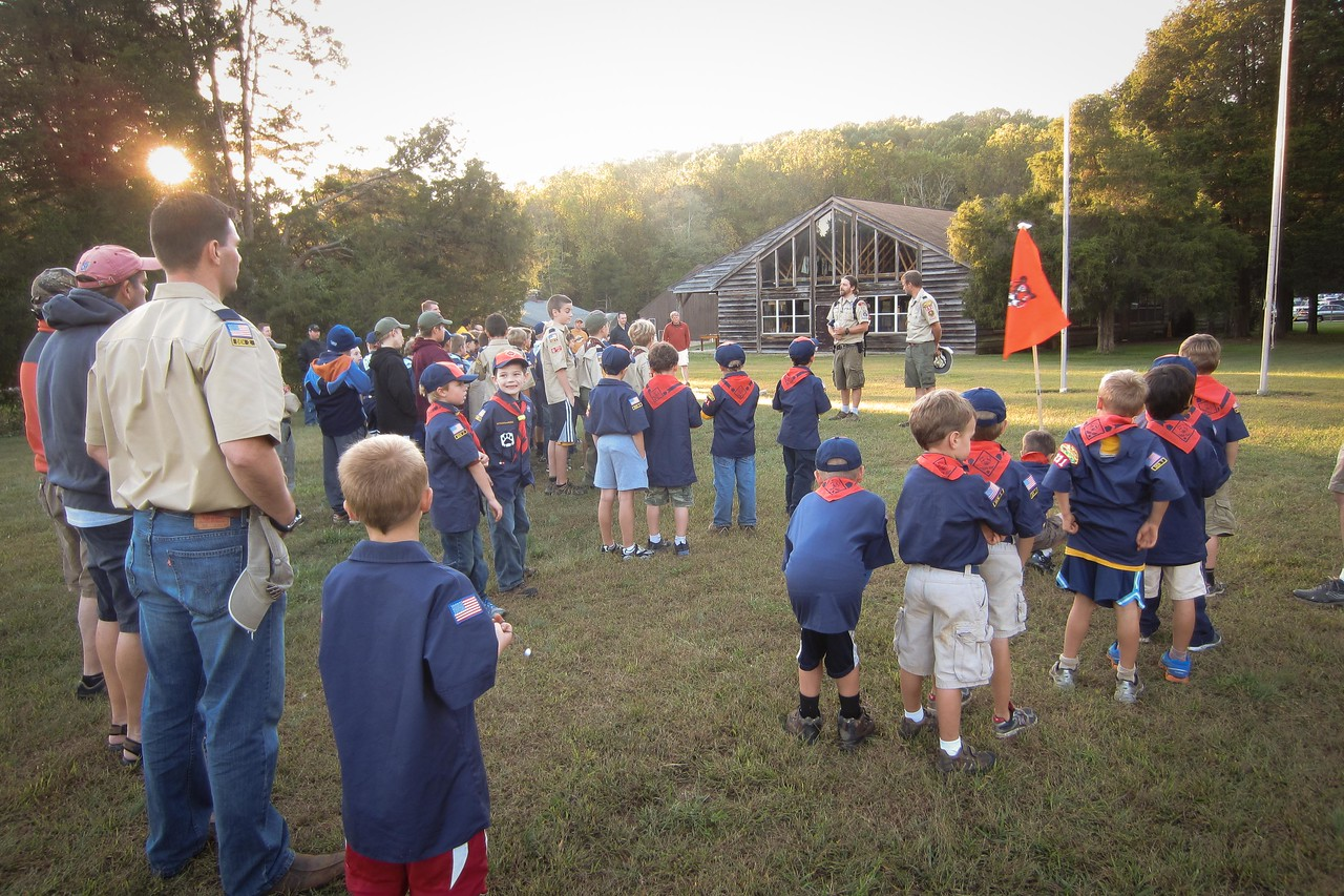 Flag ceremony in the evening
