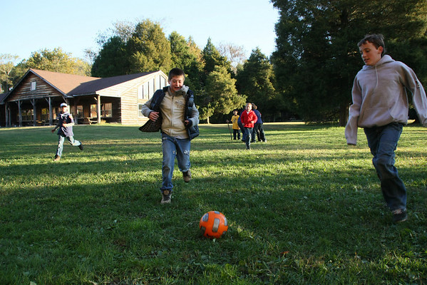 A little free time for soccer.