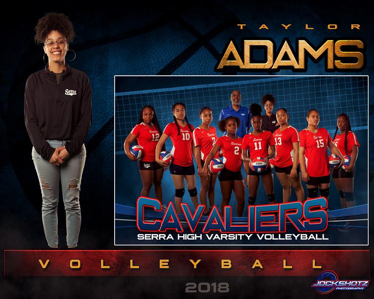 T Adams  Varsity Volleyball GrungeSports_MemoryMate