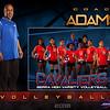 C Adams  Varsity Volleyball GrungeSports_MemoryMate