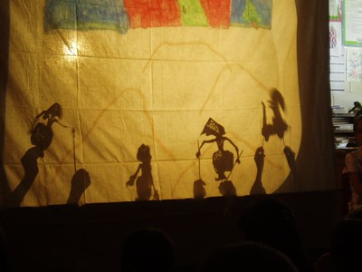Shadow puppets by Mrs. Cassidy's 4th grade