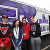 Shawsheen Tech culinary students with the school's recently acquired food truck. From left, sophomore Jonn Durfee of Bedford, sophomore Emma Caswell of Tewksbury, senior Cameron Sousa of Wilmington, and senior Anthony DiCesare of Tewksbury. (SUN/Julia Malakie)