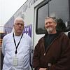 Shawsheen Tech director of nutrition Bob Roach, left, and culinary arts instructor/lead teacher Joe Williams, with the school's recently acquired food truck. (SUN/Julia Malakie)