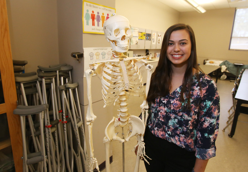 Megan Brown of Billerica, a graduating senior at Shaw in health assisting, is being recognized as a 2019 U.S. CTE presidential scholar. (SUN/Julia Malakie)