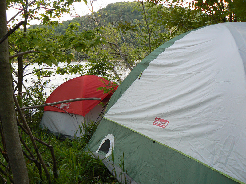 We found a beautiful campsite on the Potomac River for our Survival Hike Out.