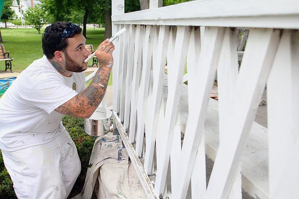 Shriver Job Corp paints Leominster gazebo