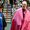 L-R Siena President Fr. Kevin Mullen andEdward B. Scha fenberger, D.D., Bishop of Albany at Siena College commencement at the Times Union Center in Albany, Sunday  May 18,  2014 (Mike McMahon - The Record)