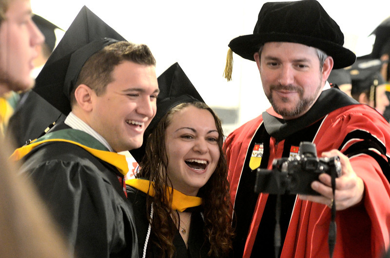 Siena College commencement at the Times Union Center in Albany, Sunday  May 18,  2014 (Mike McMahon - The Record)