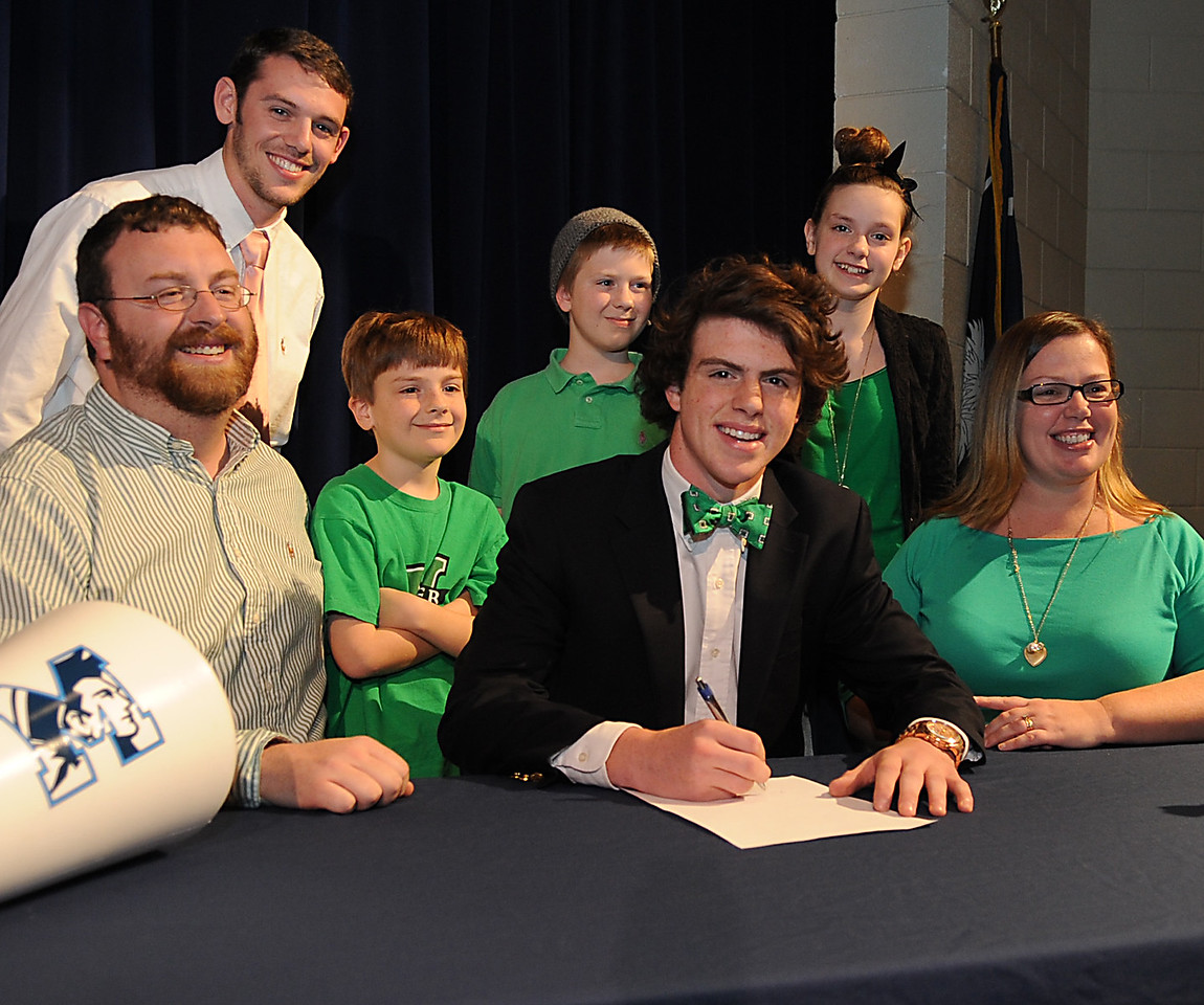J.L. Mann High School recognized  student athletes that signed National Letters of Intent to continue their careers in college.<br /> Laura Miller:<br /> Furman University<br /> Cross Country<br /> Track<br /> Will Vanvick<br /> The Citadel<br /> Football<br /> Aubrey Smith<br /> SC State University<br /> Track<br /> Nicole Dagher:<br /> King University<br /> Soccer<br /> Jake Riggs:<br /> The Citadel<br /> Football<br /> Kia Mattison:<br /> Presbyterian College<br /> Soccer<br /> Zach Riggs:<br /> Clemson<br /> University<br /> Football<br /> Christian Calloway:<br /> College of Charleston<br /> Soccer<br /> Ryne Strickland:<br /> Jacksonville State<br /> University<br /> Football<br /> James Campbell:<br /> Marshall University<br /> Soccer <br /> GWINN DAVIS PHOTOS<br /> gwinndavisphotos.com (website)<br /> (864) 915-0411 (cell)<br /> gwinndavis@gmail.com  (e-mail) <br /> Gwinn Davis (FaceBook)
