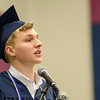 William Hunt addresses the graduates during the commencement ceremony at the Sizer School on Thursday evening. SENTINEL & ENTERPRISE / Ashley Green