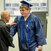 Ryley Forwood receives his diploma during the commencement ceremony at the Sizer School on Thursday evening. SENTINEL & ENTERPRISE / Ashley Green