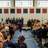 Graduates enter the commencement ceremony at the Sizer School on Thursday evening. SENTINEL & ENTERPRISE / Ashley Green