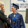 Julie Gambill receives her diploma during the commencement ceremony at the Sizer School on Thursday evening. SENTINEL & ENTERPRISE / Ashley Green