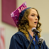 Jennifer Brown addresses the graduates during the commencement ceremony at the Sizer School on Thursday evening. SENTINEL & ENTERPRISE / Ashley Green