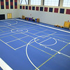 The new Sizer School, A North Central Charter Essential School at 500 Rindge Rd in Fitchburg is finished and waiting for student to arrive next Friday for the first day of school. The new gym that is on the second floor. SENTINEL & ENTERPRISE/JOHN LOVE