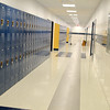 The new Sizer School, A North Central Charter Essential School at 500 Rindge Rd in Fitchburg is finished and waiting for student to arrive next Friday for the first day of school. The lockers for the students come from their old Oak Hill Road building. SENTINEL & ENTERPRISE/JOHN LOVE