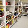 The new Sizer School, A North Central Charter Essential School at 500 Rindge Rd in Fitchburg is finished and waiting for student to arrive next Friday for the first day of school. The storage room for the art supplies attached to the art room. SENTINEL & ENTERPRISE/JOHN LOVE