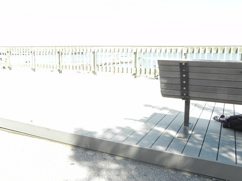 "It's amazing how simply tilting the camera a bit got me a whole new look! ""Bright Board Walk #1"""