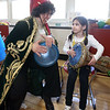 South Row School International Festival in Chelmsford. Val Sarkis of Townsend and her niece Eva Papadopoulos, 6, a 1st grader at South Row, play dirbake, a Lebanese drum. (SUN/Julia Malakie)