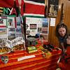 South Row School International Festival in Chelmsford. Erika Wissinger of Chelmsford and her son Alfie Zanich, 6, a kindergarten student, look at Kenya exhibit. (SUN/Julia Malakie)