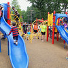 The City of Leominster held a ribbon cutting for the new playground on Vicoloid Avenue next to the Southeast Elementary School on Wednesday afternoon. Kids could not wait to climb all over the new playground. SENTINEL & ENTERPRISE/JOHN LOVE
