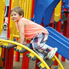 The City of Leominster held a ribbon cutting for the new playground on Vicoloid Avenue next to the Southeast Elementary School on Wednesday afternoon.  Daniel Spencer Jr., 4, climbs all over the new playground after the ribbon cutting. SENTINEL & ENTERPRISE/JOHN LOVE