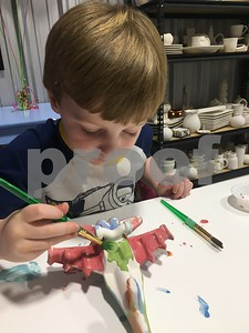 Whodidly pottery in Flint is offering times during spring break where children can paint pottery.