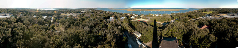 This is a complete 360 degree pano from teh lighthouse.  Notice the building on the left and right edge are the same.  If you were to put them together, you would have the full view from the lighthouse,